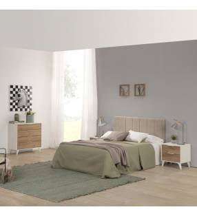 Pack Muebles dormitorio matrimonio Koln Blanco 1