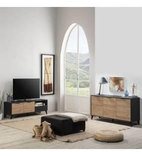 Pack muebles salón Koln Negro TopMueble 2