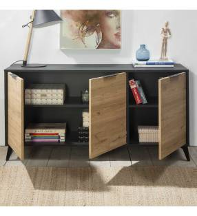 Pack muebles salón Koln Negro TopMueble