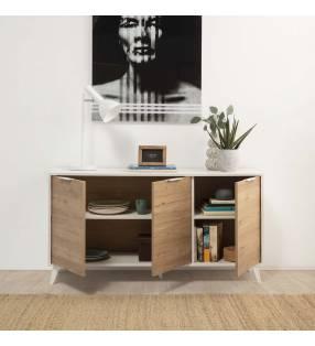 Conjunto muebles de salón Koln Blanco TopMueble
