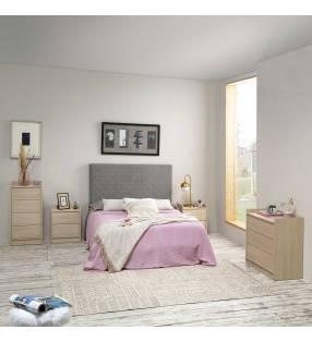 Muebles dormitorio matrimonio Montreal Roble/Roble