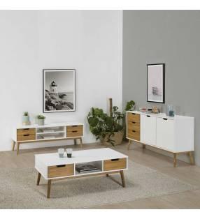 Conjunto muebles de Salón Java Blanco TopMueble