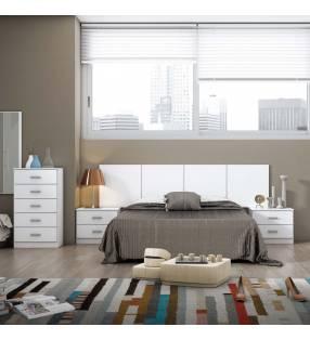 Conjunto Dormitorio Dubai Blanco TopMueble