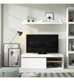 Mueble TV California 1P2H Blanco TopMueble 3
